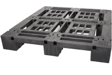 Rackable Plastic Shipping Pallet