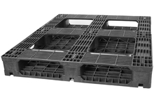 GS.48.40.6R1 - Full Picture Frame Recycled Plastic Pallet w/ 1 Rod - Regular Duty ()